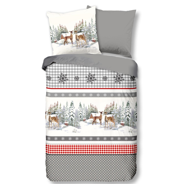 Good Morning Bettwäsche 6195 Wintertime Grey Flanell