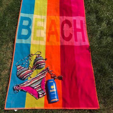Dreams Jacquard Strandlaken Beach Bunt 90x180 cm – Bild 2