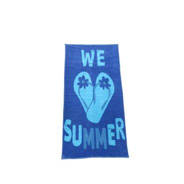 Dreams Jacquard Strandlaken Flip Flops Blau 90x180 cm – Bild 1