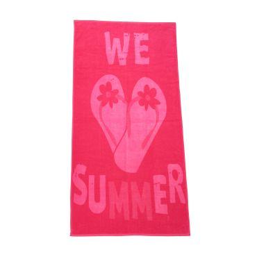 Dreams Jacquard Strandlaken Flip Flops Pink 90x180 cm – Bild 1