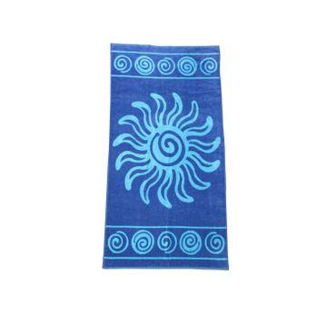 Dreams Jacquard Strandlaken Sonne Blau 90x180 cm – Bild 1