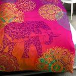 Sister S. Bettgarnitur Noida Lila Violett Elefant Orientalisch