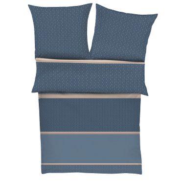 bugatti Bettwäsche 5836 blau Mako-Satin – Bild 1