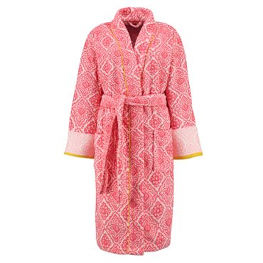 PiP Studio Bademantel Jacquard Check Dark Pink – Bild 1