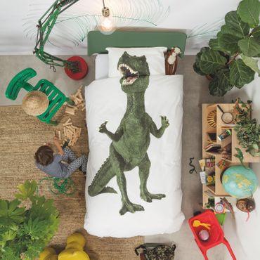 Snurk Bettwäsche Dino Green Perkal – Bild 2