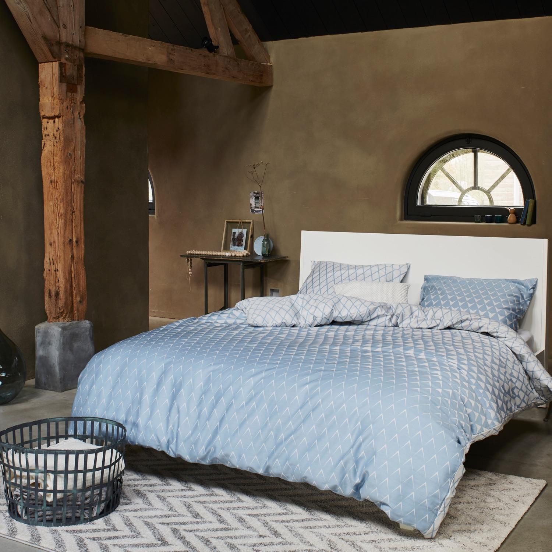 esprit bettw sche mina blue satin. Black Bedroom Furniture Sets. Home Design Ideas