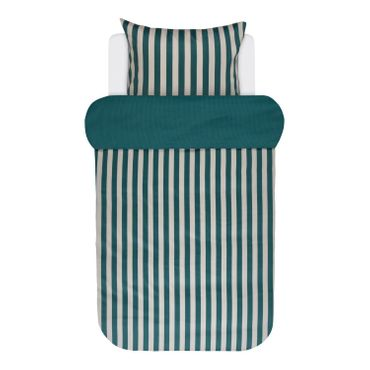 Marc O'Polo Bettwäsche Classic Stripe Pine Green Satin – Bild 1
