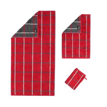 Cawö Handtücher Noblesse Square 1079 27 Rot  – Bild 1