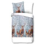 Good Morning Bettwäsche 6333 Deer Winterlandschaft verschneit Wendegarnitur