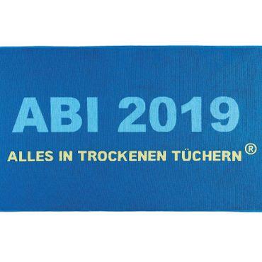 Egeria ABI 2019 Strandlaken Strandtuch Blau 75x180 cm – Bild 2