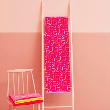 ESPRIT Strandlaken Cira Pink 100x180 cm – Bild 5