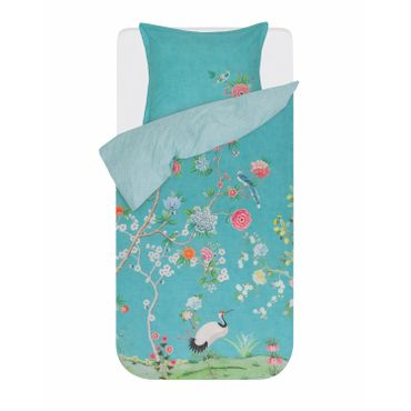 PiP Studio Bettwäsche Good Morning Dark Green Aqua Perkal – Bild 1