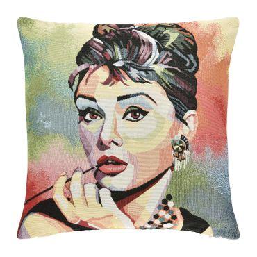 pad home Kissenhülle Audrey Hepburn Bunt 45x45 cm