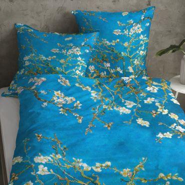 Goebel Bettwäsche Mandelbaum Blau Satin  – Bild 4