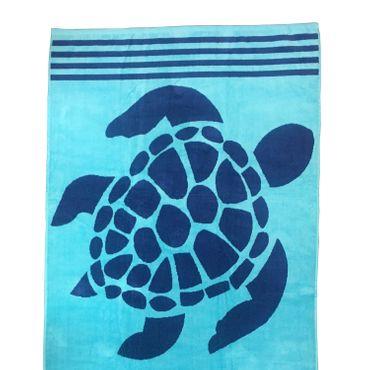 Dreams Jacquard Strandlaken Turtle Blau 90x180 cm – Bild 2