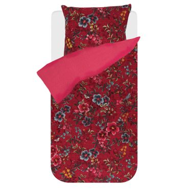PiP Studio Bettwäsche Floral Delight Red Perkal – Bild 1