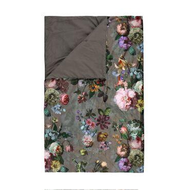 ESSENZA Plaid Wohndecke Fleur Taupe 135x170 cm  – Bild 1