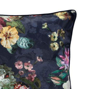 ESSENZA Zierkissen Dekokissen Fleur Nightblue 50x50 cm – Bild 3
