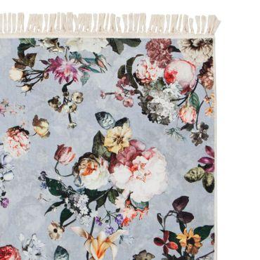 ESSENZA Teppich Fleur Faded Blue Velours – Bild 2