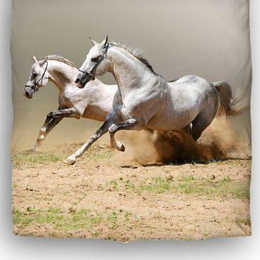 Schwanberg Bettwäsche Running Horses Renforcé – Bild 3