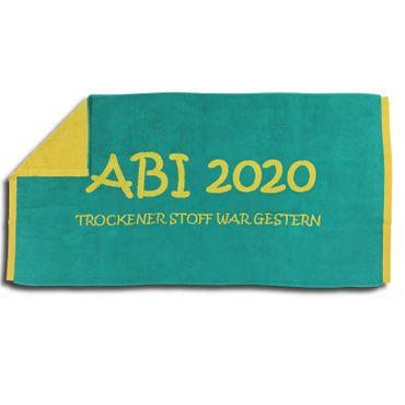 Jacquard Strandlaken Strandtuch ABI 2020 Türkis Lime 80x160 cm – Bild 5