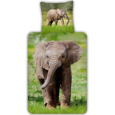 ESPiCO Bettwäsche Trendy Bedding Elefant multi Renforcé – Bild 1
