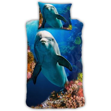 ESPiCO Bettwäsche Sleep and Dream Delfin Blau Renforcé – Bild 1