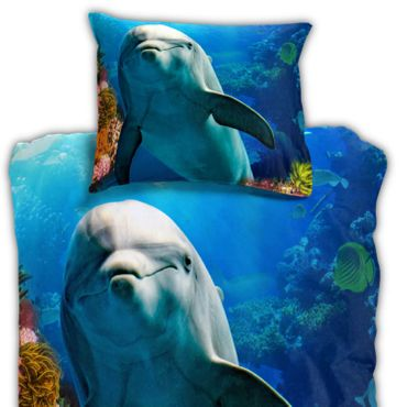 ESPiCO Bettwäsche Sleep and Dream Delfin Blau Renforcé – Bild 2
