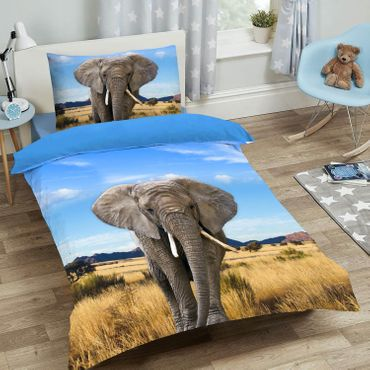 ESPiCO Bettwäsche Sleep and Dream Elefant Blau Renforcé – Bild 4