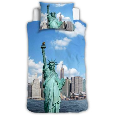New York Bettwäsche Freiheitsstatue Digitaldruck ESPiCO Sleep and Dream – Bild 1