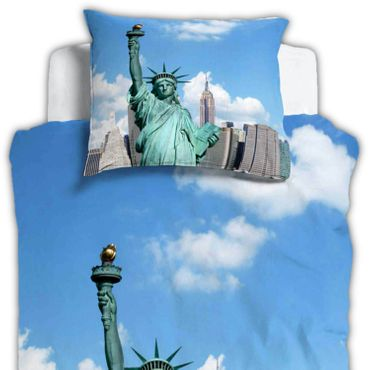 ESPiCO Bettwäsche Sleep and Dream New York Blau Renforcé – Bild 2