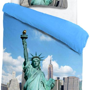 ESPiCO Bettwäsche Sleep and Dream New York Blau Renforcé – Bild 4