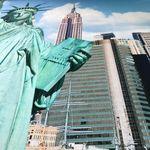 ESPiCO Bettwäsche Sleep and Dream New York Freiheitsstatur Amerika Skyline Empire State Building Liberty Renforcé