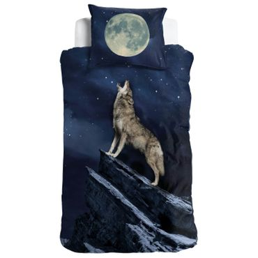 ESPiCO Bettwäsche Sleep and Dream Wolf Blau Renforcé – Bild 1