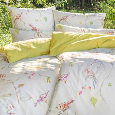Estella Bettwäsche Sparrow 4745 985 multicolor Mako Satin – Bild 6
