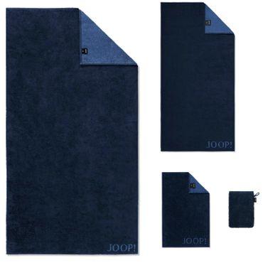 JOOP! Handtücher Classic Doubleface Navy 1600 14  – Bild 1