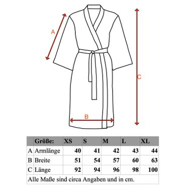 ESSENZA Kimono Morgenmantel Jaegers Oyster Sand – Bild 9