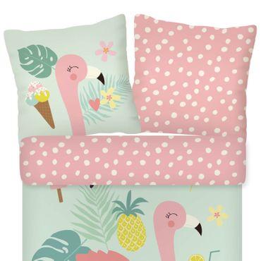 ESPiCO Bettwäsche Trendy Bedding Flamingo multi Renforcé – Bild 2