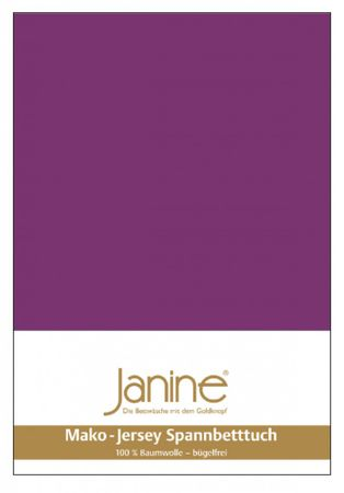 Janine Spannbettlaken Mako-Feinjersey Baumwolle Classic Jersey 5007 – Bild 10