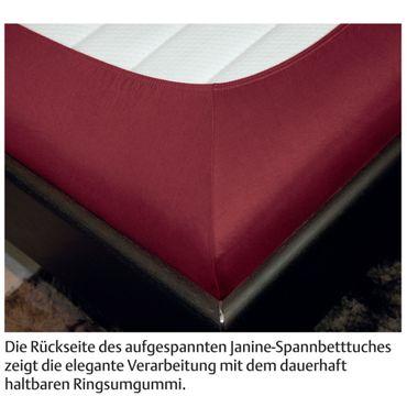 Janine Spannbettlaken Elastic-Jersey Baumwolle / Comfort Elastic 5002 – Bild 3