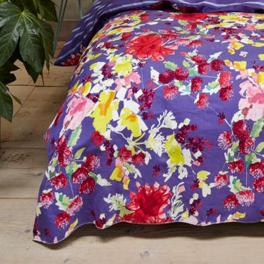 Vanezza Bettwäsche Splash Purple Flanell – Bild 5