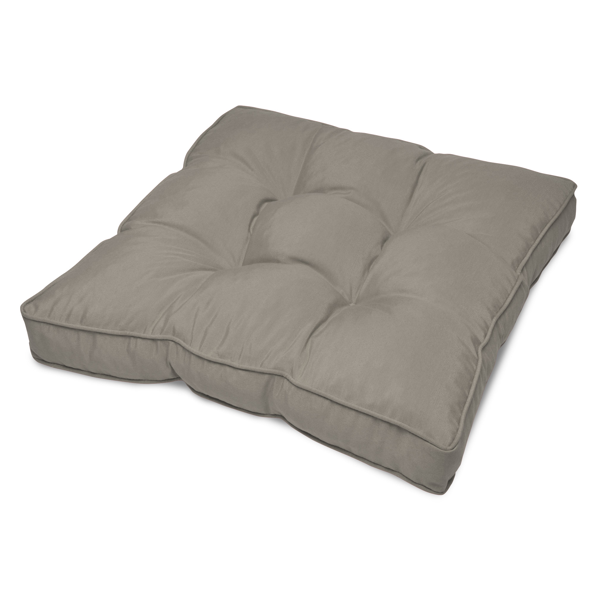 Details About Water Resistant Cover Outdoor Cushion Grey 70 X 70 X 10 Cm Chair Pad Light Grey