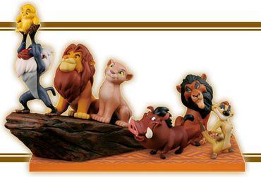 Disney Characters World Collectable Figure [WCF] story.07 Der König der Löwen Figur: Komplett-Set mit dem Königsfelsen [6 Figuren]