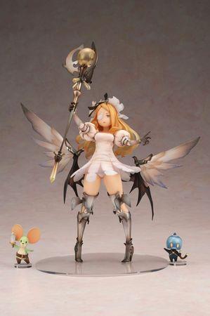 Battle Champs Statue: Nia mit Ratterich und Sling [Weißmagierstab Version]