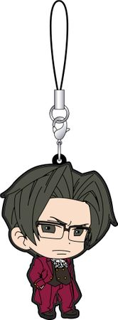 Phoenix Wright: Ace Attorney 15th Anniversary Rubber Strap Collection B Gummi Anhänger: #10 Miles Edgeworth