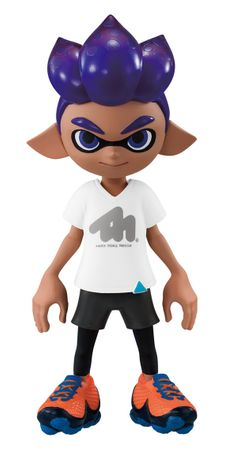 Splatoon 2 Kisekae Gear Collection Trading Figur: #4 Inkling-Junge [Dunkelblau] & T-Shirt TintactiX [Weiß]