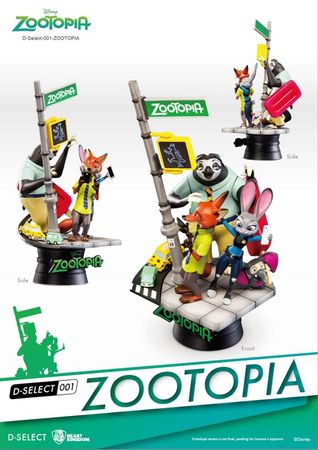 Disney D-Select 001 Diorama Statue: Zoomania – Bild 2