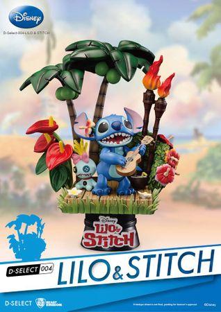 Disney D-Select 004 Diorama Statue: Lilo & Stitch
