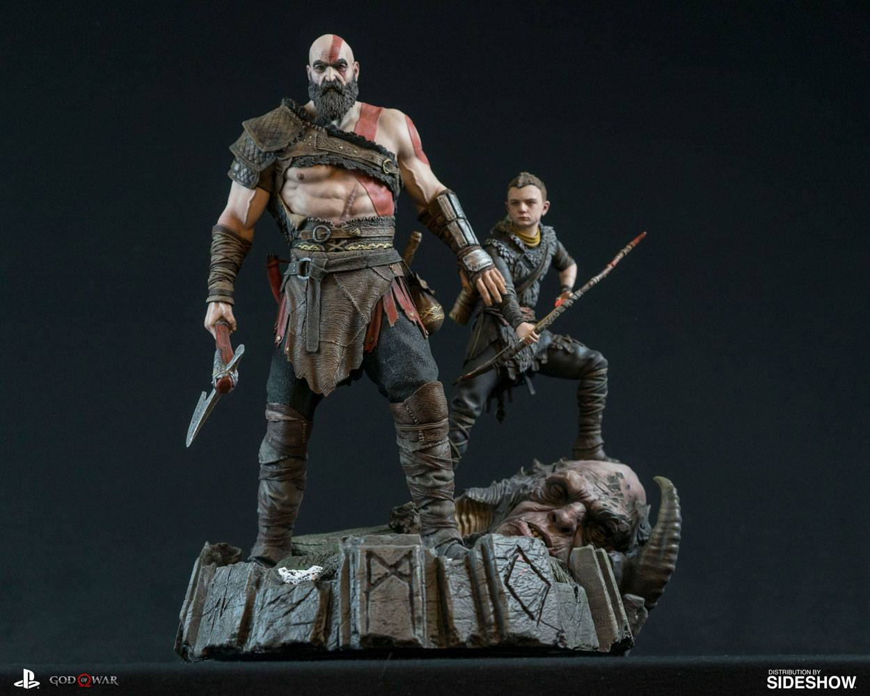 God Of War 1 6 Statue Kratos Atreus Kujumi