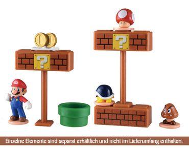 Super Mario Hirogaru World Trading Figur: 2 Blöcke & Pilz – Bild 2